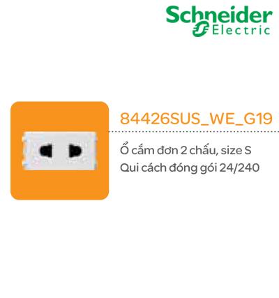 Ổ CẮM SCHNEIDER 84426SUS_WE_G19