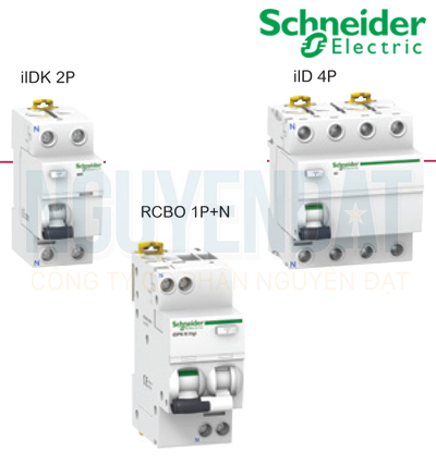 CẦU DAO SCHNEIDER A9D41606 ACTI9 RCBO 1P+N 6KA 300MA