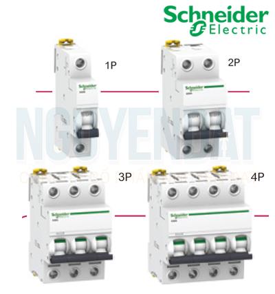CẦU DAO TỰ ĐỘNG SCHNEIDER A9F74406 ACTI9 MCB 4P 6KA 400V