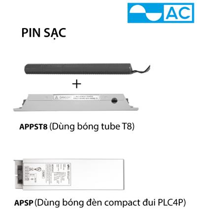 PIN SẠC AC APPST8 (DÙNG BÓNG ĐÈN TUBE T8)