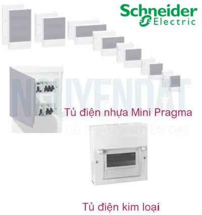 TỦ ĐIỆN ÂM TƯỜNG SCHNEIDER VỎ KIM LOẠI EMC2PL