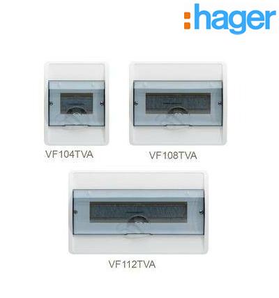 TỦ ĐIỆN COSMOS GẮN ÂM 1 HÀNG 4 THIẾT BỊ HAGER VF112TVA