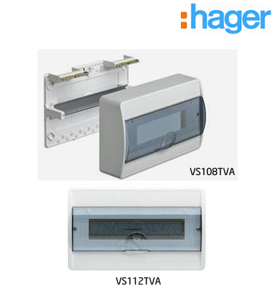 TỦ ĐIỆN ICOS GẮN ÂM 1 HÀNG 20 THIẾT BỊ HAGER VS118TVA