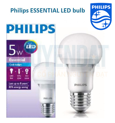BÓNG ĐÈN LED BULB PHILIPS ESSENTIAL 5W