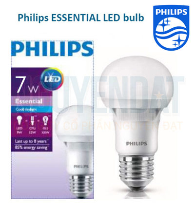 BÓNG ĐÈN LED BULB PHILIPS ESSENTIAL 7W