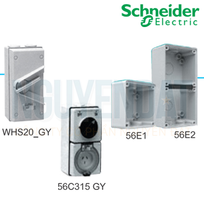 NGẮT ĐIỆN PHÒNG THẤM NƯỚC SCHNEIDER IP66 1P 20A WHS20_GY